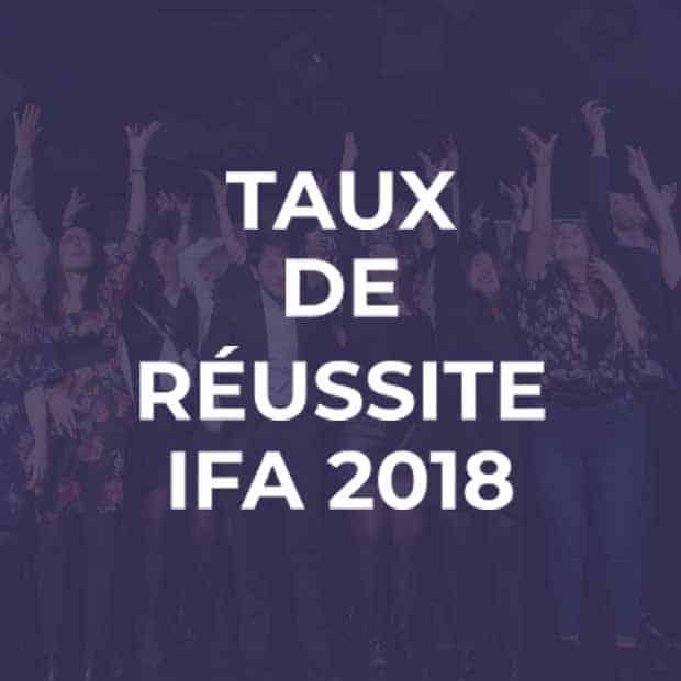 Taux de réussite 2018 à l'IFA