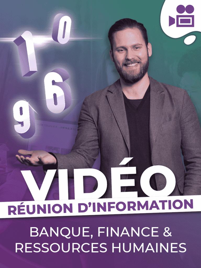 Réunions d'information - Formation Banque/Finance et Ressources Humaines